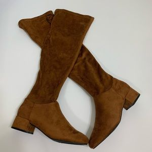 Wild Diva Lounge Thigh High Suede Boots